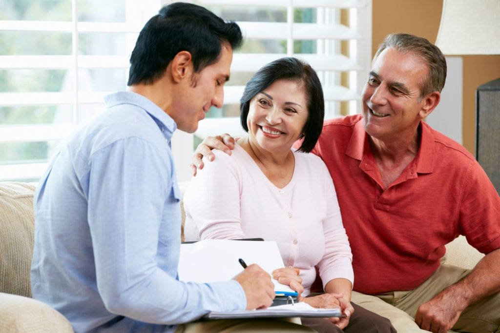 senior couple in consultation